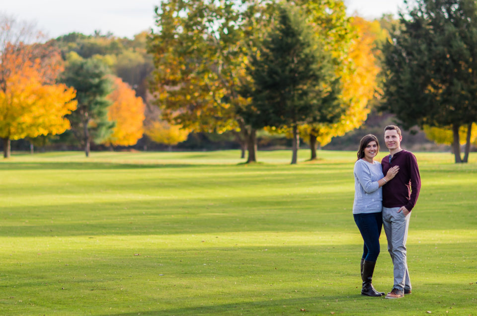 Kelsey & Eric's Bretwood Golf Course Engagement Session