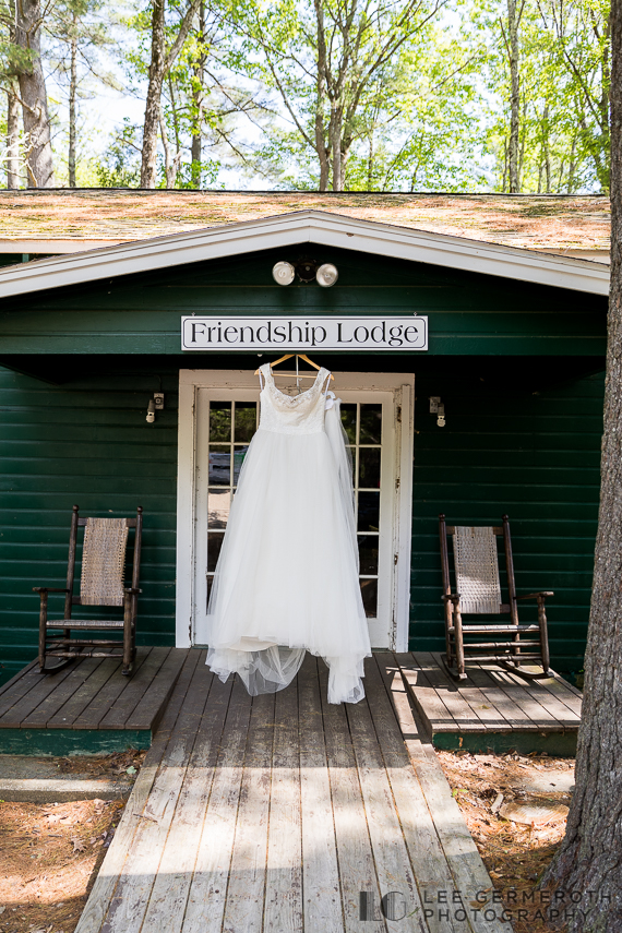 Bridal dress -- Camp Takodah Wedding in Richmond NH by Lee Germeroth Photography