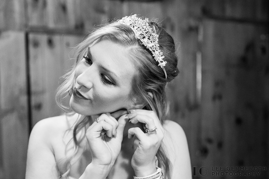 Bride getting ready -- Camp Takodah Wedding in Richmond NH by Lee Germeroth Photography