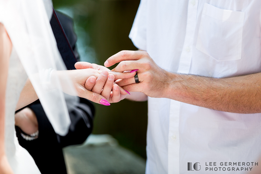 Ring exchange -- Camp Takodah Wedding in Richmond NH by Lee Germeroth Photography