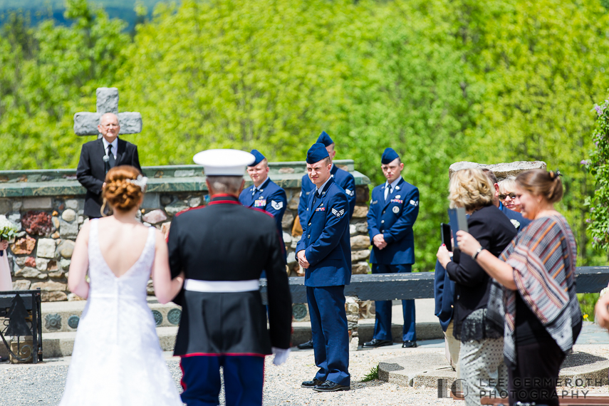 Ceremony -- Cathedral of the Pines Rindge NH wedding by Lee Germeroth Photography
