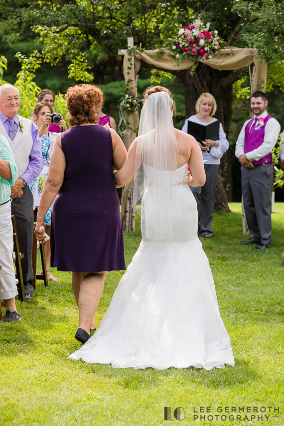 Bride walking down the aisle - Chesterfield NH Wedding Lee Germeroth Photography