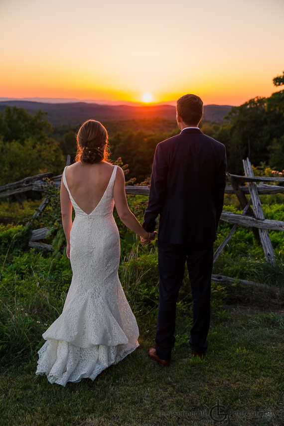 Sunset Photo Cobb Hill Wedding in Harrisville by Lee Germeroth Photography