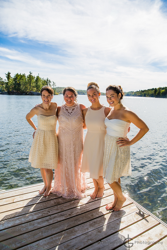 Bridesmaids - Granite Lake Nelson Wedding Photography by Lee Germeroth Photography