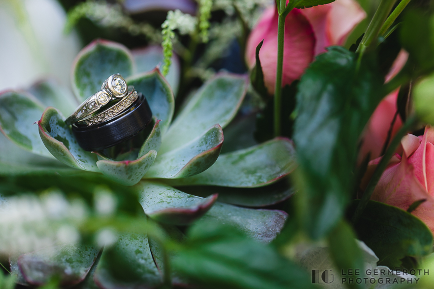 Detail of rings -- Hidden Hills Rindge NH Wedding by Lee Germeroth Photography