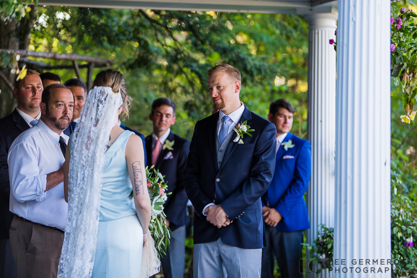 Ceremony -- Hidden Hills Rindge NH Wedding by Lee Germeroth Photography