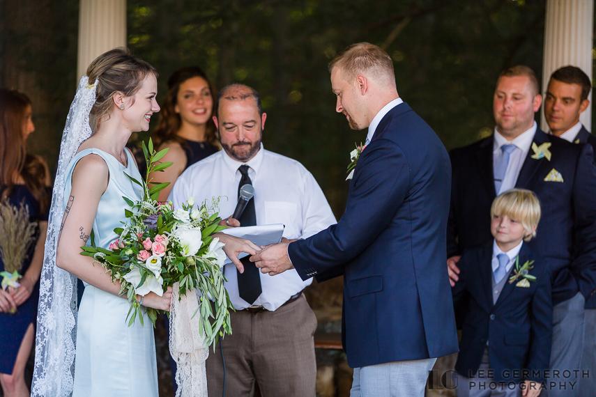 Ring exchange -- Hidden Hills Rindge NH Wedding by Lee Germeroth Photography
