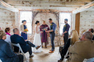 Unity ceremony -- Inn at Valley Farms Walpole NH Wedding by Lee Germeroth Photography