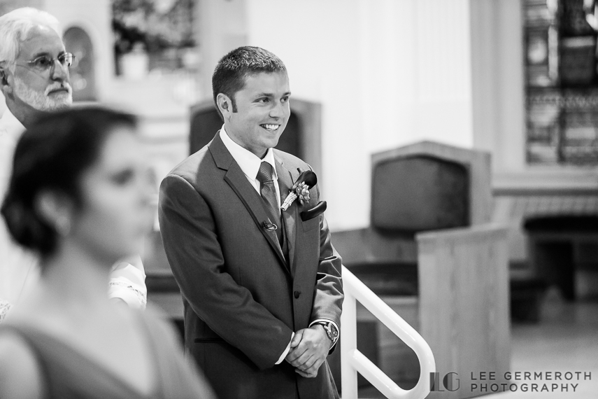 Grooms First Look - Keene Country Club Wedding by Lee Germeroth Photography