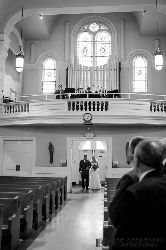 Bride walking down aisle - Keene Country Club Wedding by Lee Germeroth Photography
