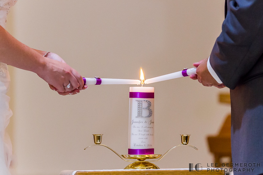 Unity Candles - Keene Country Club Wedding by Lee Germeroth Photography