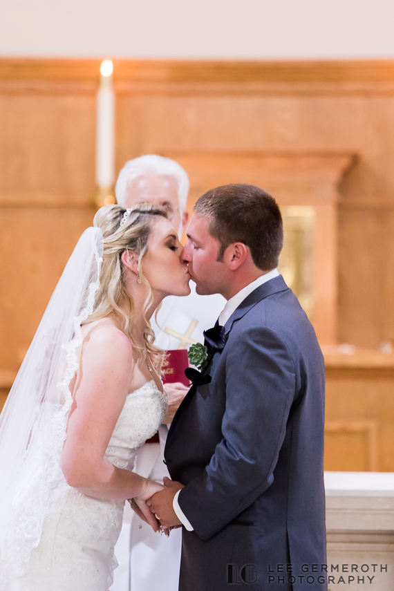 First Kiss - Keene Country Club Wedding by Lee Germeroth Photography
