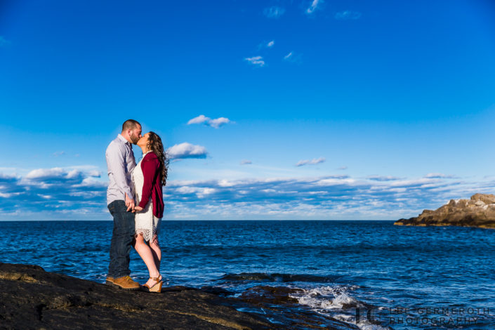 Nubble Lighthouse in York Maine Engagement Session by Lee Germeroth Photography