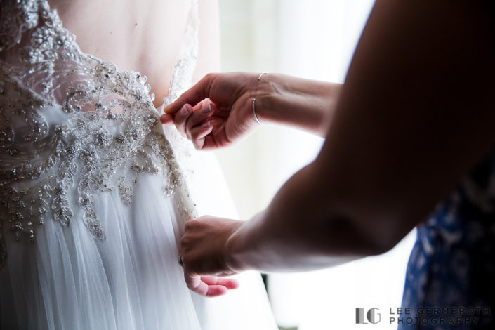 Bride detail - Shattuck Wedding Photography in Jaffrey, NH by Lee Germeroth Photography