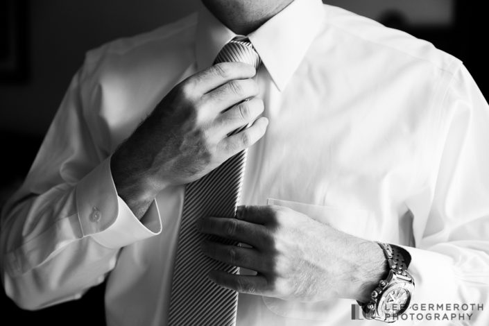Groom Prep Portrait - Stowe Mountain Wedding Photography in Stowe, VT by Lee Germeroth Photography