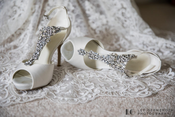 Bridal shoes and Wedding dress by Lee Germeroth Photography