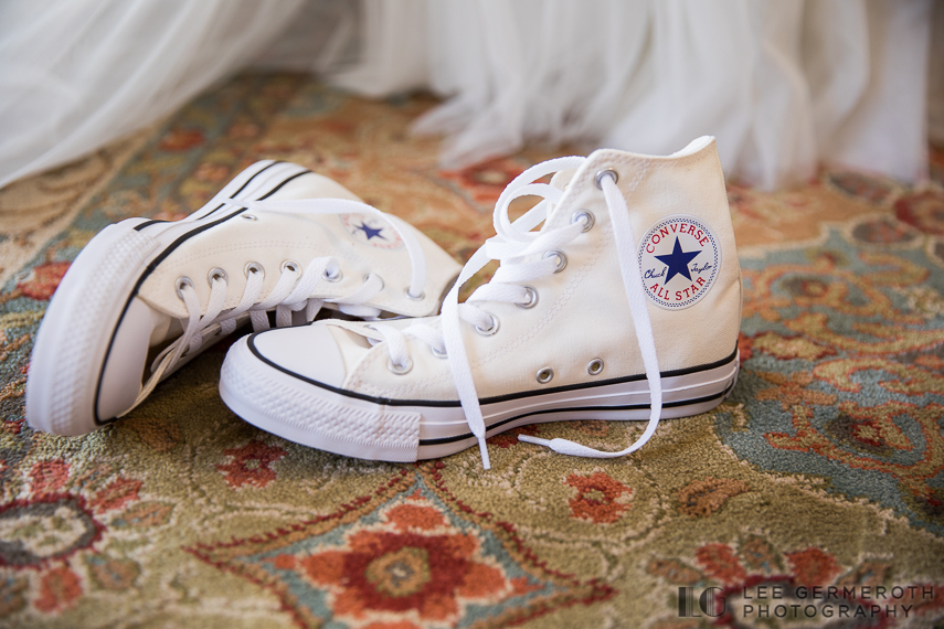 Bride's Converse shoes -- Londonderry Wedding Photography by Lee Germeroth Photography