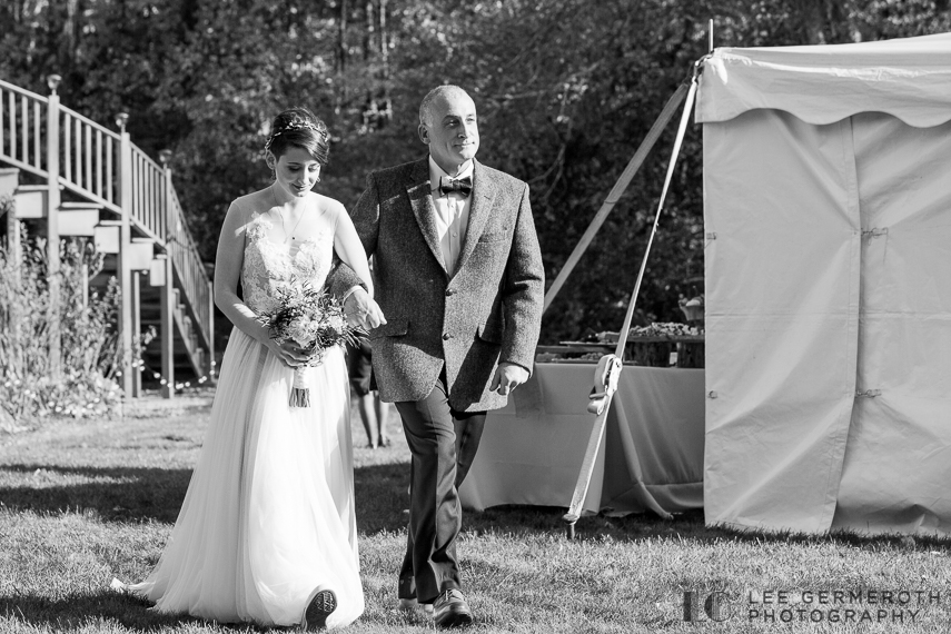 Bride walking down aisle -- Londonderry Wedding Photography by Lee Germeroth Photography
