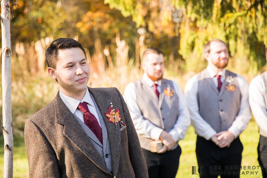 Groom's first look -- Londonderry Wedding Photography by Lee Germeroth Photography