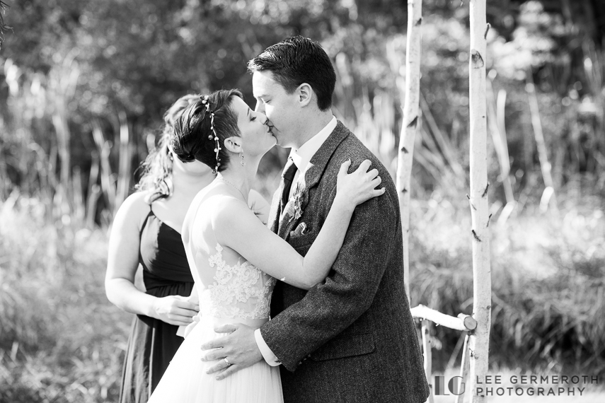 First kiss -- Londonderry Wedding Photography by Lee Germeroth Photography