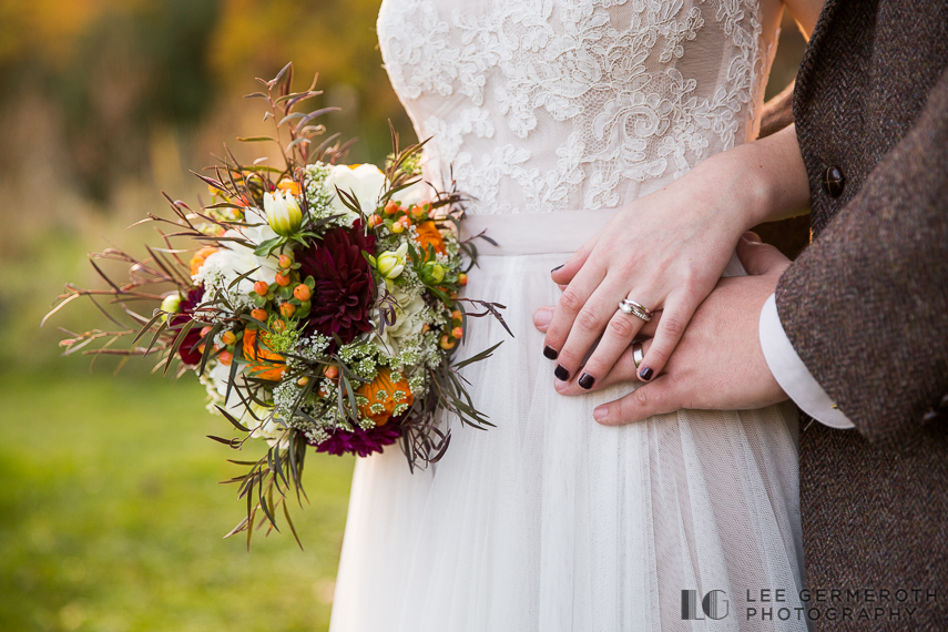 Ring and bouquet detail -- Londonderry Wedding Photography by Lee Germeroth Photography