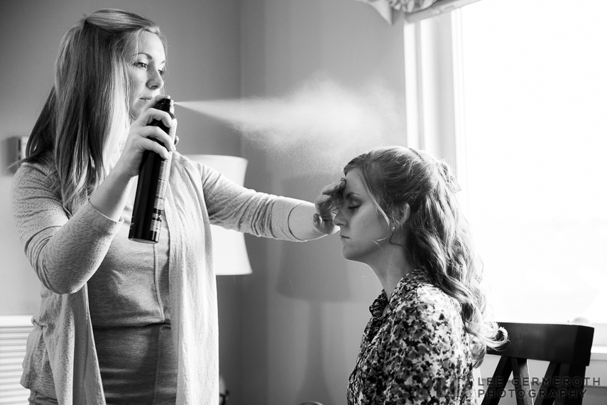 Bridal prep -- Mount Ascutney Resort Wedding by Lee Germeroth Photography