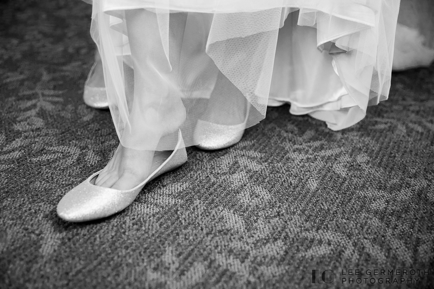 Bride's shoes -- Mount Ascutney Resort Wedding by Lee Germeroth Photography