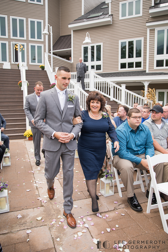 Groom walking down the aisle -- Mount Ascutney Resort Wedding by Lee Germeroth Photography