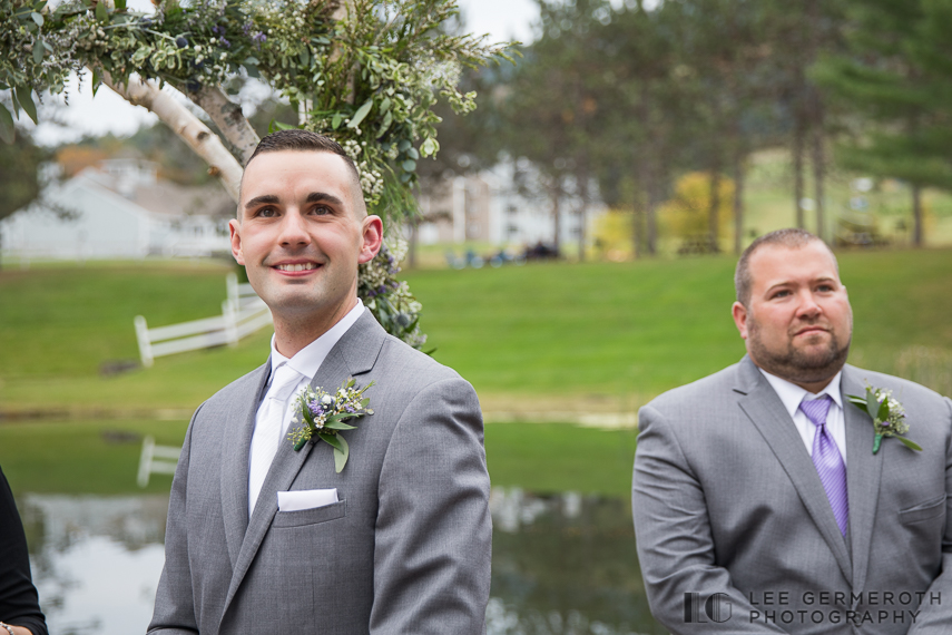 Groom's first look -- Mount Ascutney Resort Wedding by Lee Germeroth Photography
