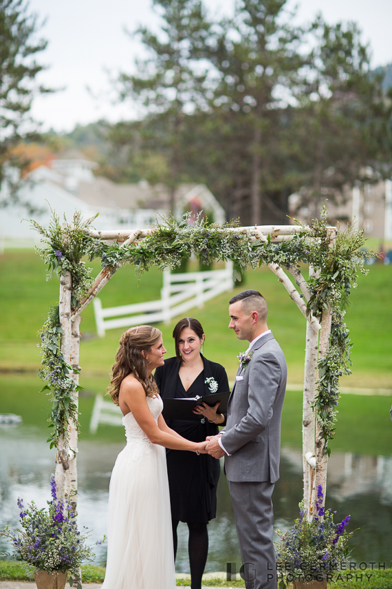 Wedding Ceremony -- Mount Ascutney Resort Wedding by Lee Germeroth Photography