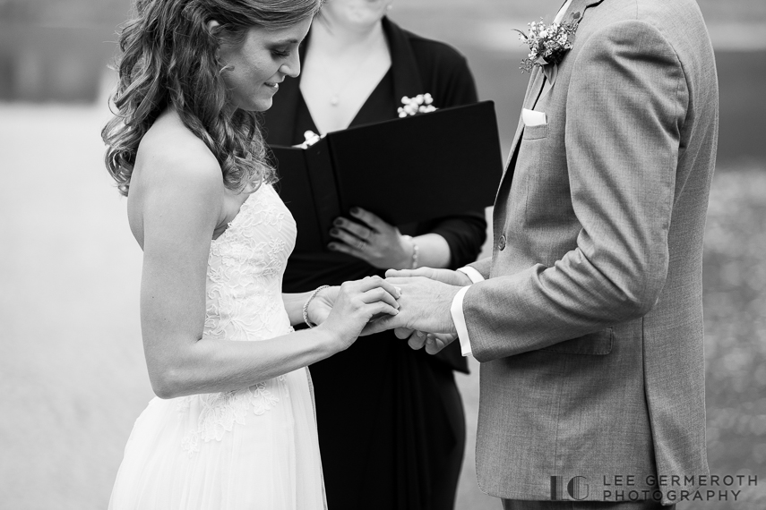 Ring exchange -- Mount Ascutney Resort Wedding by Lee Germeroth Photography