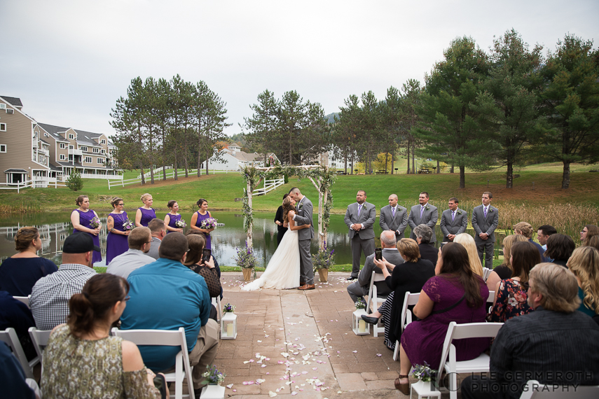 First kiss -- Mount Ascutney Resort Wedding by Lee Germeroth Photography