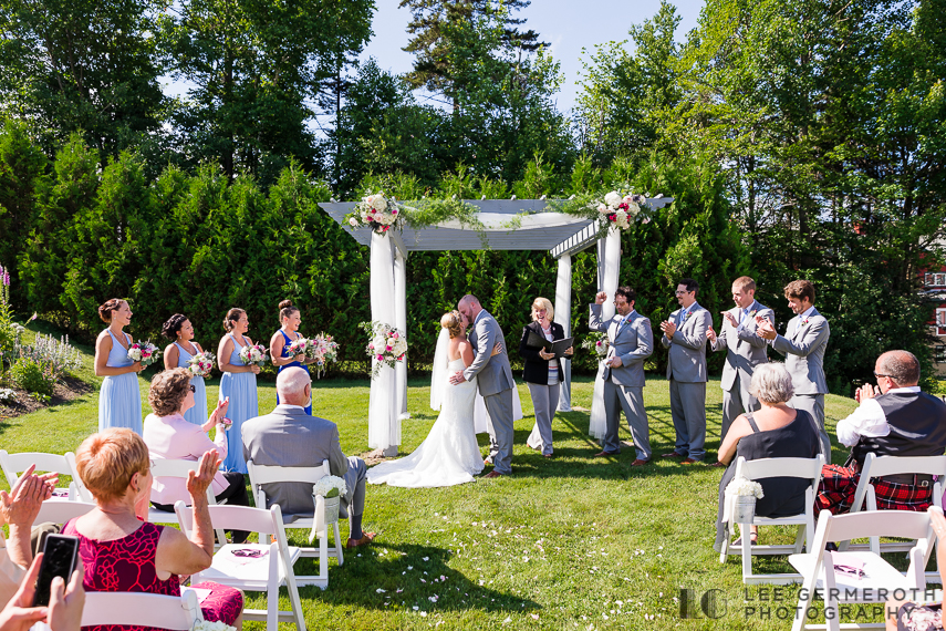 First Kiss -- Mount Snow Grand Summit Resort Wedding by Lee Germeroth Photography
