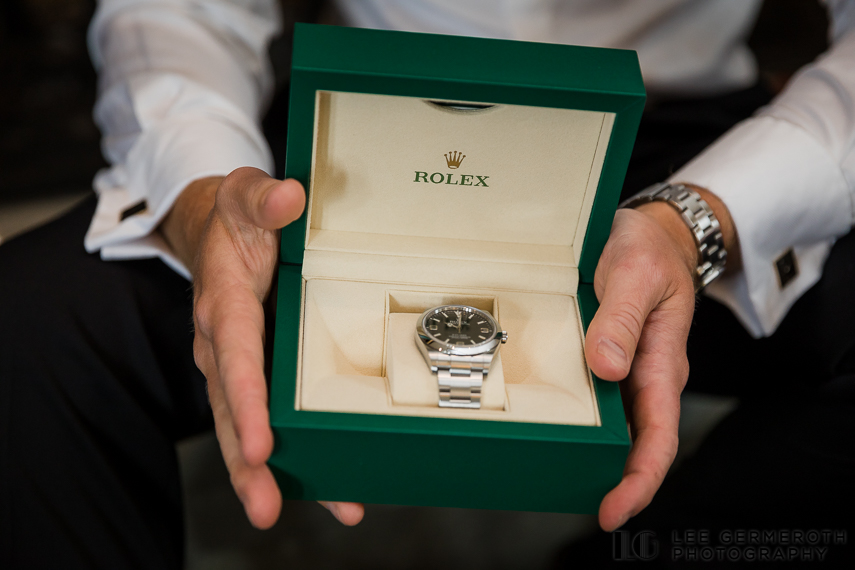 Bride's gift to groom -- Nelson NH Luxury Wedding Lee Germeroth Photography