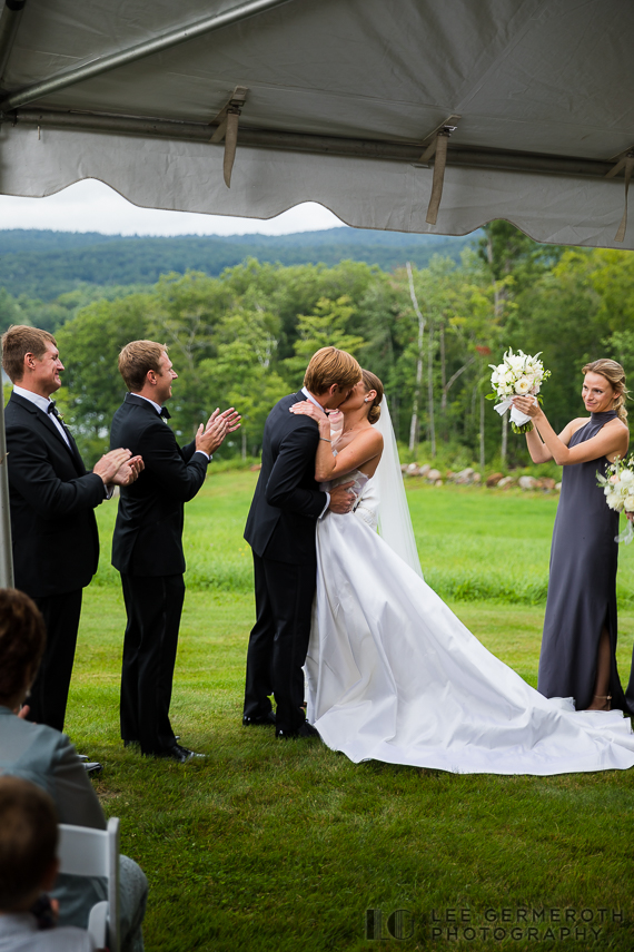 First kiss -- Nelson NH Luxury Wedding Lee Germeroth Photography