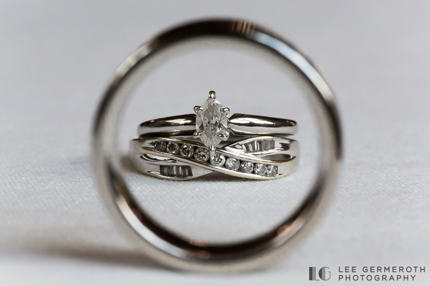 Ring Detail - New Hampshire Country Club Wedding by Lee Germeroth Photography