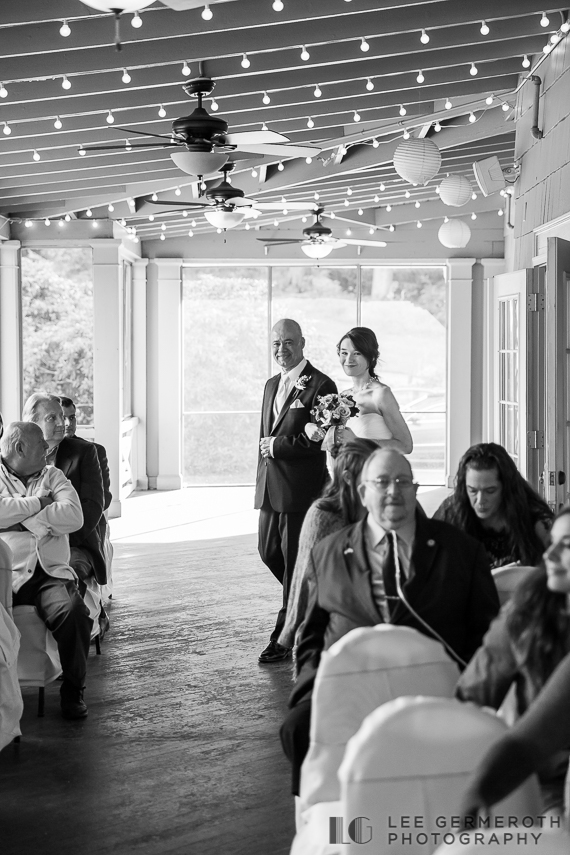 Walking down the aisle - New Hampshire Country Club Wedding by Lee Germeroth Photography