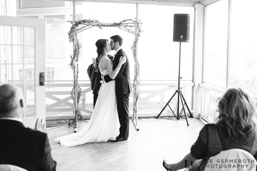 First Kiss - New Hampshire Country Club Wedding by Lee Germeroth Photography