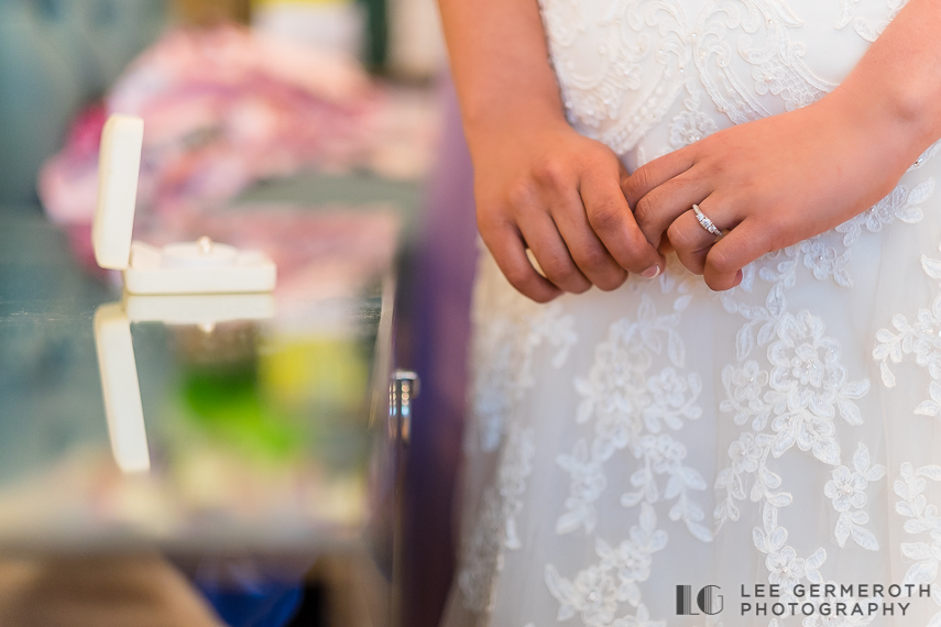 Bride Detail -- Nonantum Resort Kennebunkport Maine Wedding by Lee Germeroth Photography