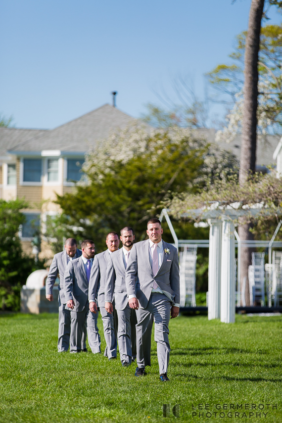 Groom Entrance -- Nonantum Resort Kennebunkport Maine Wedding by Lee Germeroth Photography