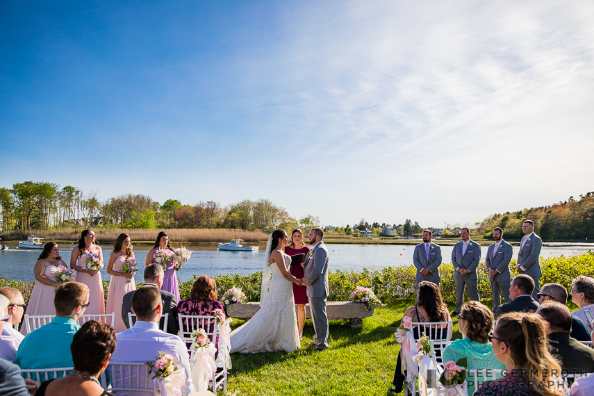 Ceremony -- Nonantum Resort Kennebunkport Maine Wedding by Lee Germeroth Photography