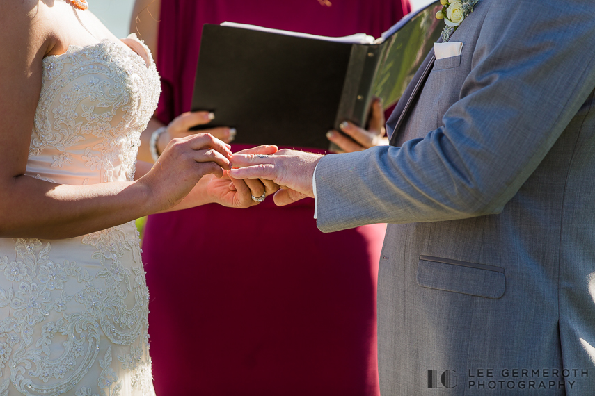 Ring Exchange -- Nonantum Resort Kennebunkport Maine Wedding by Lee Germeroth Photography