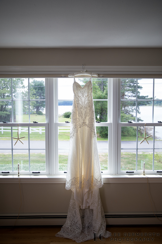 Wedding Dress -- South Berwick Maine Wedding Photography by Lee Germeroth Photography