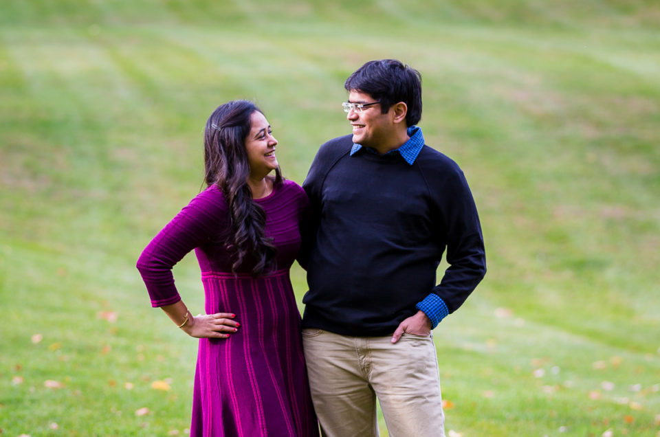 Vibhuti & Vedant | Surry Mountain Lake, NH Engagement Session