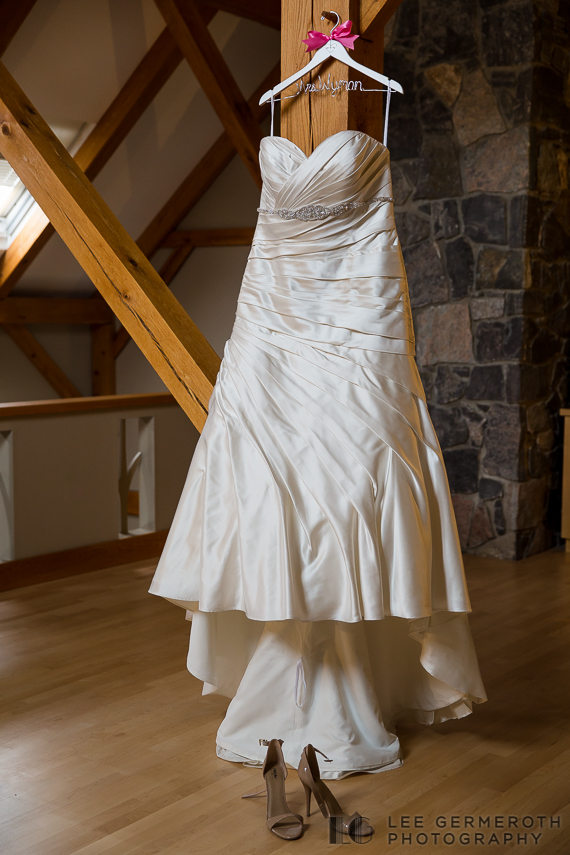 Dress Shot - Walpole New Hampshire Wedding by Lee Germeroth Photography