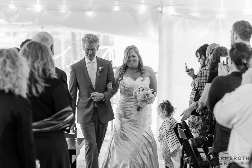 Walking down the aisle - Walpole New Hampshire Wedding by Lee Germeroth Photography