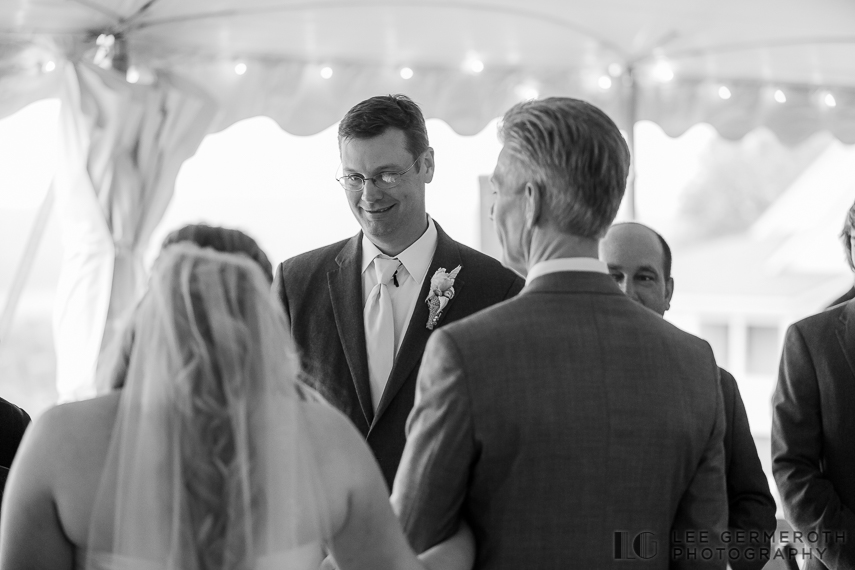 Grooms first look - Walpole New Hampshire Wedding by Lee Germeroth Photography