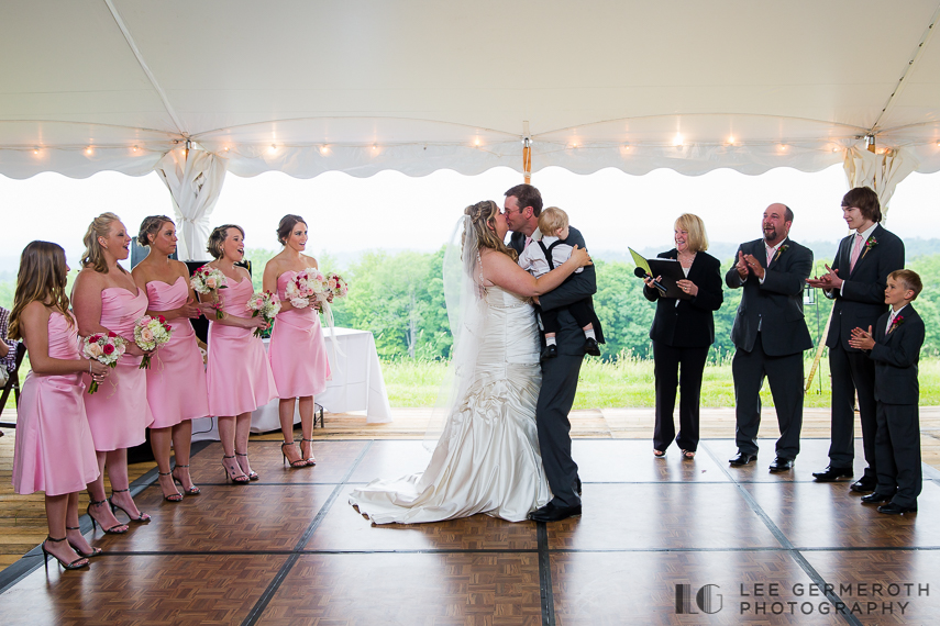 First Kiss - Walpole New Hampshire Wedding by Lee Germeroth Photography