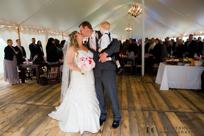 Walking out of Ceremony - Walpole New Hampshire Wedding by Lee Germeroth Photography
