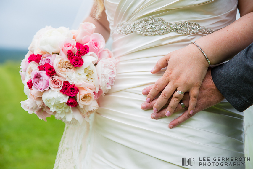 Ring and Flower Bouquet - Walpole New Hampshire Wedding by Lee Germeroth Photography